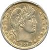 Image of 1907 25c PCGS AU50