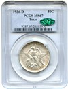 Image of 1936-D Texas 50c PCGS/CAC MS67 - No Reserve!