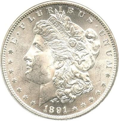Image of 1891-S $1 NGC MS64