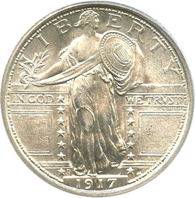 Image of 1917-D 25c PCGS MS66 FH (Type 1)