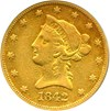 Image of 1842-O $10 PCGS/CAC VF35 - Early New Orleans Gold Eagle Coin