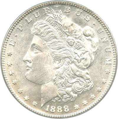 Image of 1888-S $1 PCGS MS64