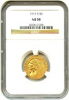 Image of 1911-S $5 NGC AU58 - No Reserve!
