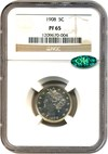 Image of 1908 5c NGC/CAC Proof 65 - No Reserve!