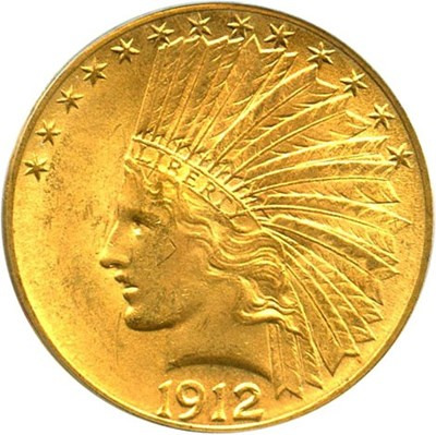 Image of 1912 $10 PCGS MS64