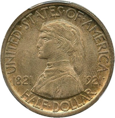 Image of 1921 Missouri 50c PCGS/CAC MS65  - No Reserve!