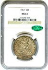 Image of 1857 50c NGC/CAC MS63 - No Reserve!
