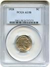 Image of 1928 5c PCGS AU58