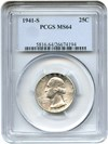 Image of 1941-S 25c PCGS MS64 - No Reserve!