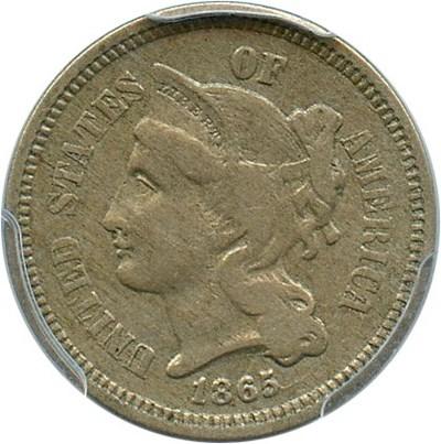 Image of 1865 3cN PCGS VF35
