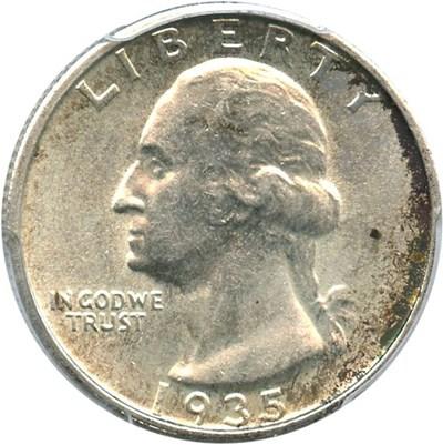 Image of 1935-S 25c PCGS AU58 - No Reserve!
