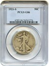 Image of 1921-S 50c PCGS Good-6 - No Reserve!