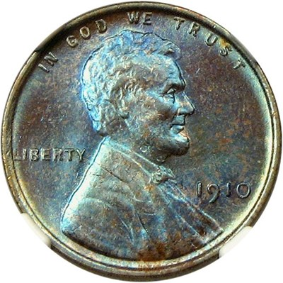 Image of 1910 1c NGC MS64 BN - Beautiful Color