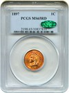 Image of 1897 1c PCGS/CAC MS65 RD