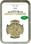 Image of 1921 50c NGC/CAC VG-8