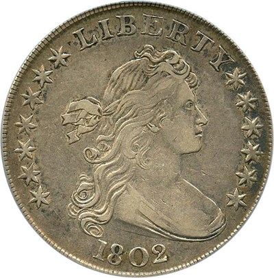 Image of 1802 $1 PCGS/CAC XF40