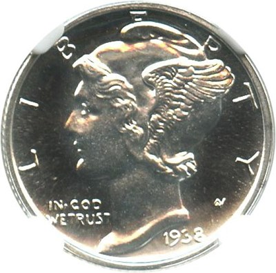 Image of 1938 10c NGC Proof 67