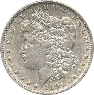 Image of 1891-O $1 PCGS XF45 (VAM 1A, Clashed E) Top 100 VAM