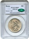 Image of 1935/34 Boone 50c PCGS/CAC MS65