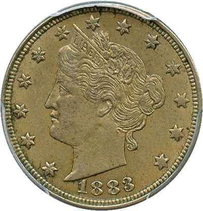 Image of 1883 5c PCGS AU58 (No Cents)