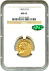 Image of 1909-D $5 NGC/CAC MS63 - No Reserve!