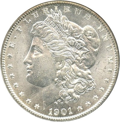 Image of 1901-O $1 NGC/CAC MS65