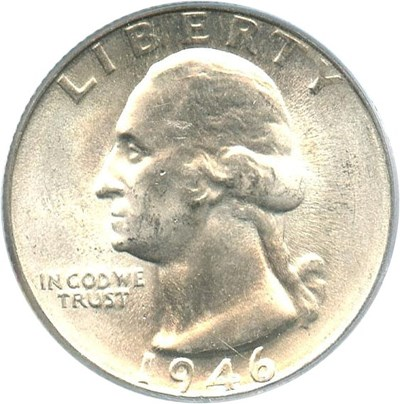 Image of 1946-D 25c PCGS MS66