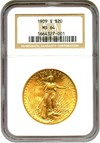 Image of 1909-S $20 NGC MS64 - No Reserve!