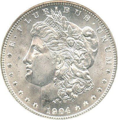 Image of 1904-O $1 NGC/CAC MS65