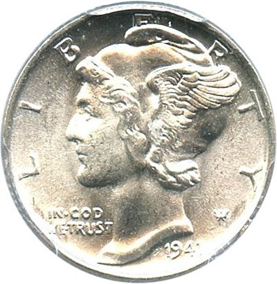 Image of 1941 10c PCGS MS65