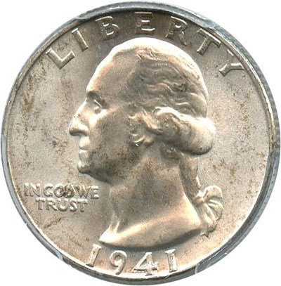 Image of 1941 25c PCGS MS66