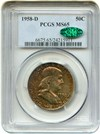 Image of 1958-D 50c PCGS MS65 - Colorful Toning