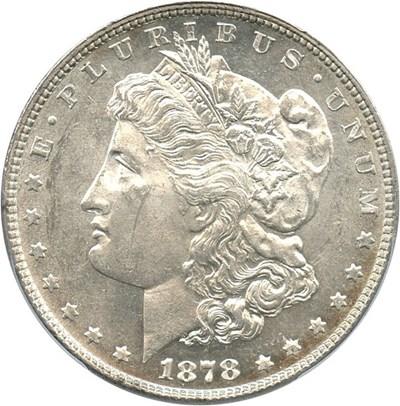 Image of 1878 7TF $1 PCGS MS61 (Reverse of 1878, VAM 141, Tripled Star) Top 100 VAM