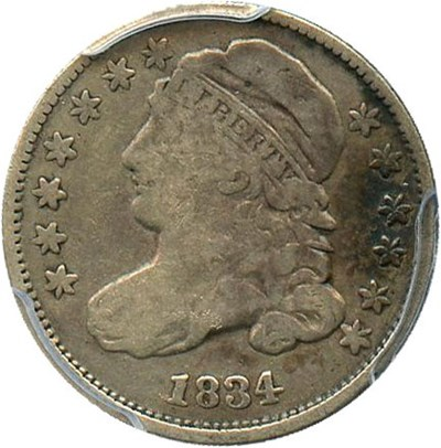 Image of 1834 10c PCGS VG-8 (Small 4)