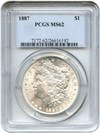 Image of 1887 $1 PCGS MS62 - No Reserve!
