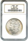 Image of 1883 $1 NGC MS65