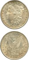 Image of 1878 7/8TF $1 PCGS MS62 (Weak, VAM-33, Double Legs)