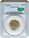 Image of 1924-D 5c PCGS/CAC MS62