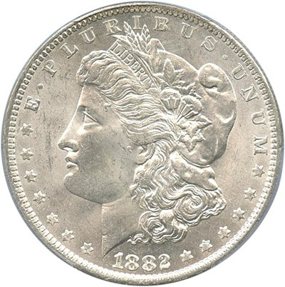 Image of 1882-O $1 PCGS/CAC MS64