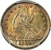 Image of 1839 H10c PCGS/CAC MS65 (No Drapery) - Colorful Toning