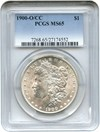 Image of 1900-O/CC $1 PCGS MS65