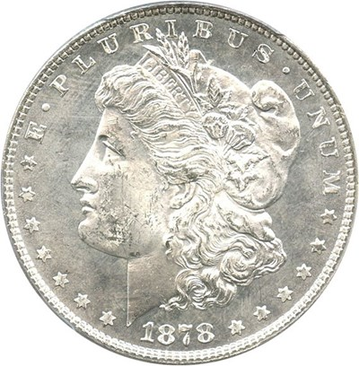 Image of 1878 7TF $1 PCGS MS64 (Reverse of 1878)