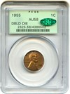 Image of 1955/1955 1c PCGS/CAC AU58 (Doubled Die) OGH - Key Date