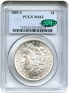 Image of 1889-S $1 PCGS/CAC MS63 - No Reserve!