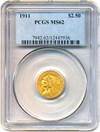 Image of 1911 $2 1/2 PCGS MS62