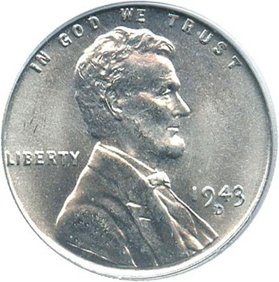 Image of 1943-D 1c PCGS MS67