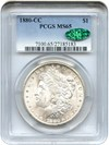Image of 1880-CC $1 PCGS/CAC MS65