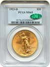 Image of 1923-D $20 PCGS/CAC MS65 - No Reserve!