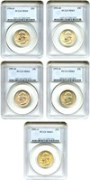 Image of Collector Lot of Washington Quarters: 1950-D,51-D,52-D,52-S PCGS MS63/64 (5 Coins)  - No Reserve!