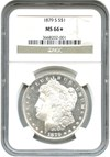 Image of 1879-S $1 NGC MS66 - NGC Star - Prooflike Obverse